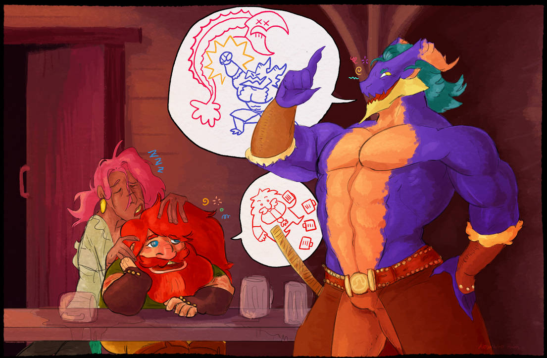 LM: Rog and Nasthan's Drunken chatter by Dettan-arts