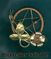 Copper Flower Pentacle by Black-Feather