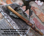 Simple Diamond Willow Witches Wand by Black-Feather