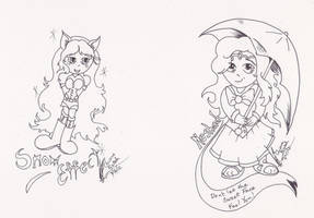Chibi samples for Mabinogi set one by Black-Feather