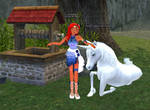 Neshad is happy she tamed her unicorn by Black-Feather