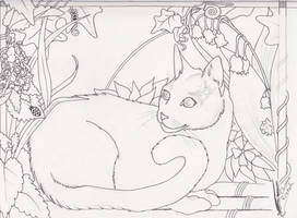 Ladee Panther WIP in Pencil by Black-Feather