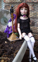 Ellowyne in Her Garden with Roses Collar by Black-Feather