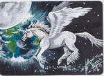 ACEO Pegasus Card by Black-Feather