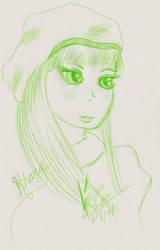 Kihara of Mari on Mabinogi quick sketch by Black-Feather