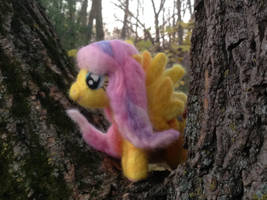 Fluttershy My Little Pony Needlefelt by Black-Feather