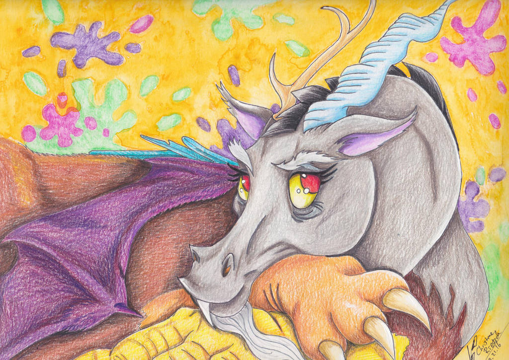 My Little Pony:  Discord Portrait by Black-Feather