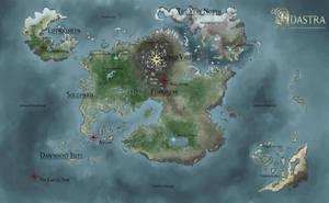 World Map - Adastra Illustration by Cryptos13