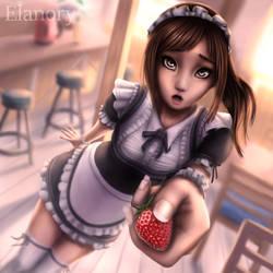 Strawberry Maid by Elanory