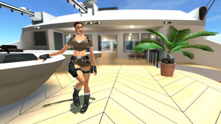 Lara Croft Vacation by diolator