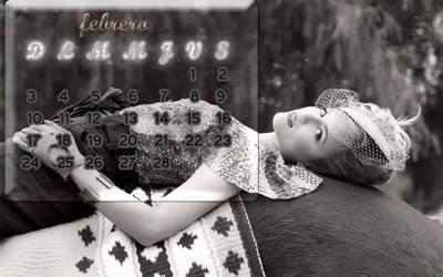 Dianna Agron calendario Febrero 2013 by gleekforeverdarrena