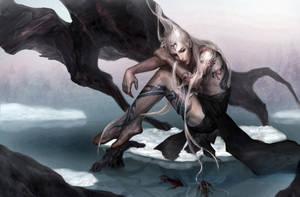 cyan dragon by zinnaDu