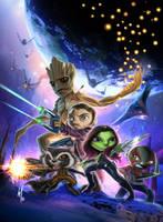 mini Guardians of the Galaxy by Corsariomarcio