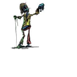 Zombie Girl by slashdraw