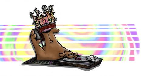 DJ Bear by slashdraw