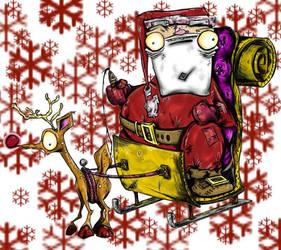 crazy santas by slashdraw