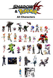 Shadow and Pokemon All Characters by Csillag-Jozef