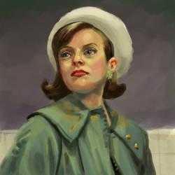Peggy Olson (Elisabeth Moss), Mad Men by stevenf