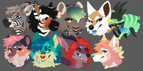 headshot commissions batch 4 by MonsterFennec
