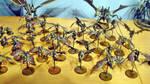 Hive Fleet Daedalus Gargoyle Swarm by Stefoserpent