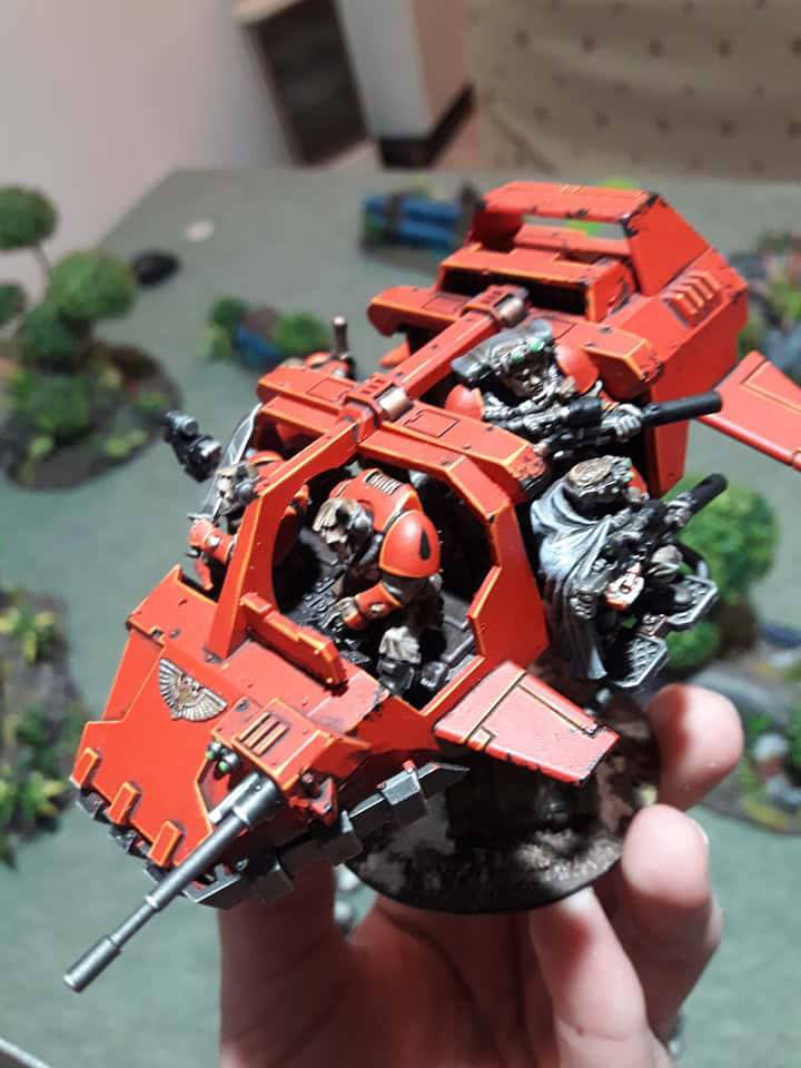 Blood Angels Land Speeder Storm 2 by Stefoserpent