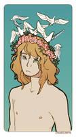 Birds in His Hair by strangelykatie