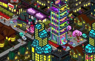 City at Night Concept By MaurodBoypvz by MauroDboyPVZ