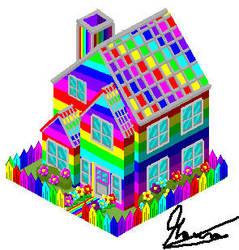 Rainbow House. by MauroDboyPVZ