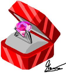 Estuche con anillo de diamante. by MauroDboyPVZ