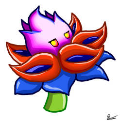 The Fire Queen Flower MS Paint Version. by MauroDboyPVZ