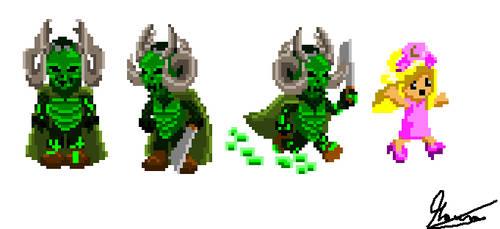 Pixel Green Meanie from Scream Queens. by MauroDboyPVZ