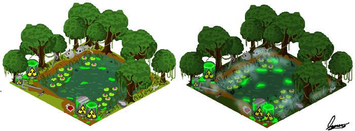 Toxic Swamp. by MauroDboyPVZ
