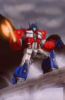 Optimus Prime~ Sherman Dam by DStevensArt