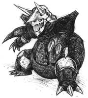 Aggron by tamer06706