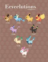 Eeveelutions! by vanduobones