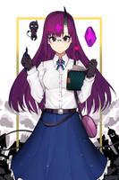 [Demon Glasses Girl] by Hentaki-kun