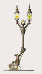 Steampunk Street Lamp by rsandberg