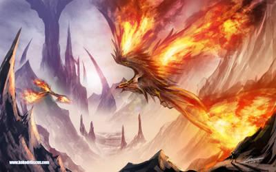 Fiery wings by Dragolisco