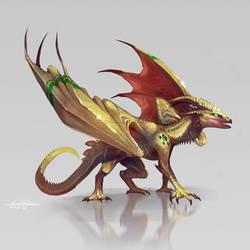 Gold Dragon by Dragolisco