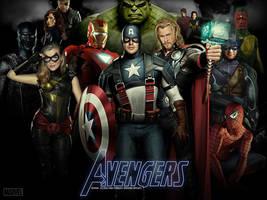 Avengers - Wallpaper v2 by ALilZeker