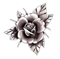 Black rose by Nhunee
