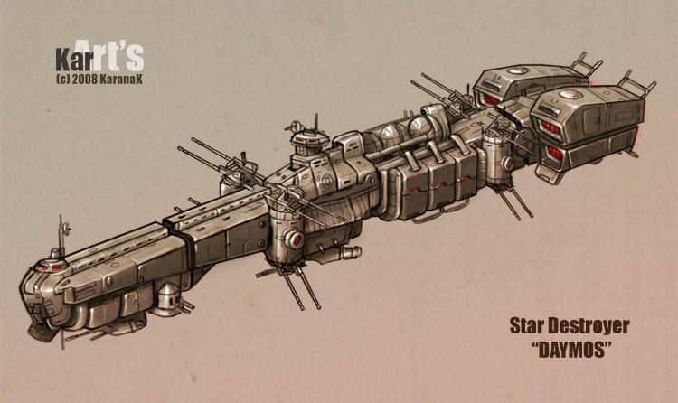 Star Destroyer Daymos by KaranaK