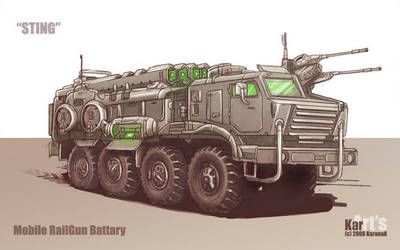Mobile RailGun Battary Sting by KaranaK