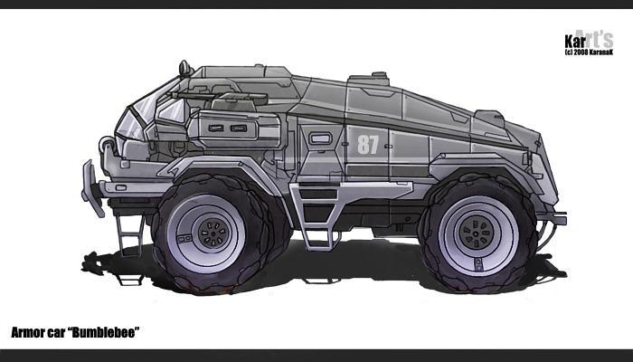 Armor Car Bumblebee by KaranaK