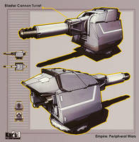 Blaster Cannon Turret by KaranaK