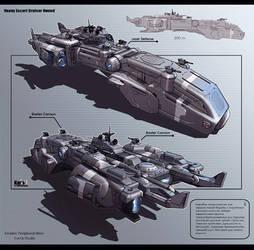 Heavy Escort Cruiser Hound by KaranaK
