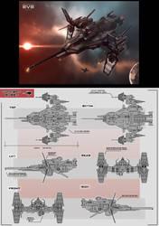 EVE online Space Ship by KaranaK