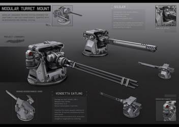 Modular turret mount by KaranaK