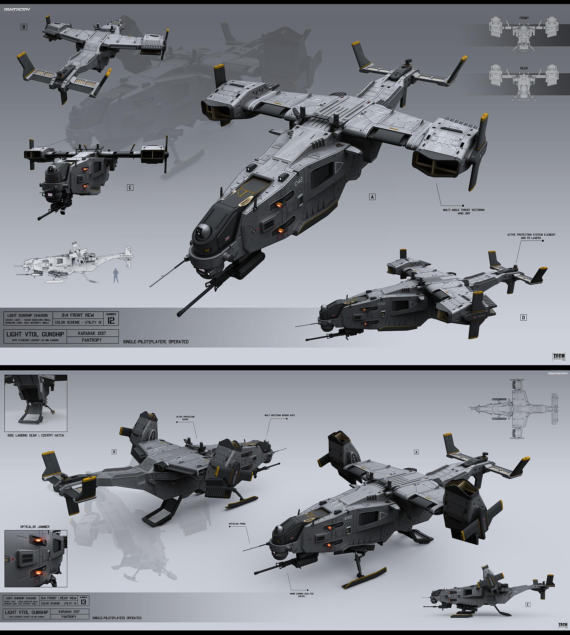 Light VTOL gunship by KaranaK