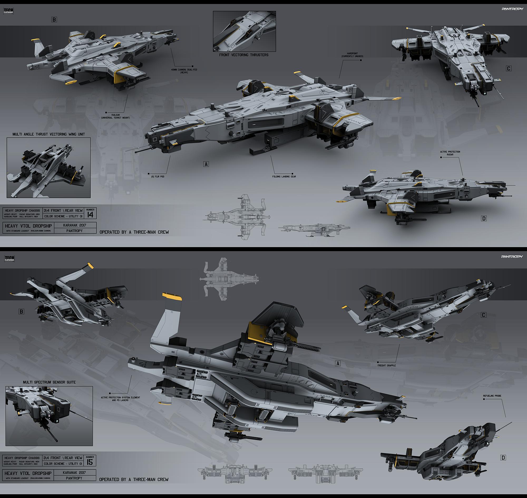 Heavy VTOL Dropship by KaranaK
